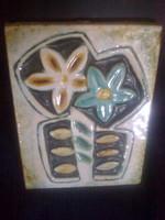 Zsolnay : art deco Virágos falikép