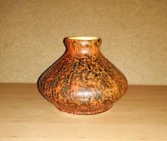 Tófej iparművész kerámia váza 10 cm magas (19/d)