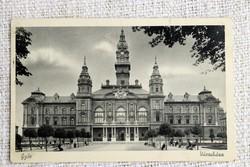Régi képeslap Győr Városháza
