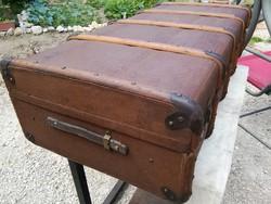 Antik utazó láda,bőrönd,faláda,koffer,loft, dekoráció