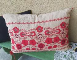 Embroidered folk cushion pillow nostalgia piece, collectible village decoration