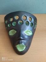 Kerámia maszk falidísz vagy kaspó