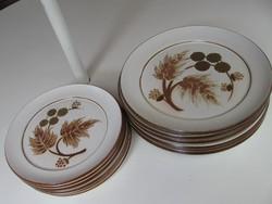 Igazi ritkaság! Vintage angol kőporcelán 6+6 tányér készlet Denby COTSWOLD