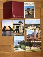 6 db -os orosz képeslapok, tömb, sor
