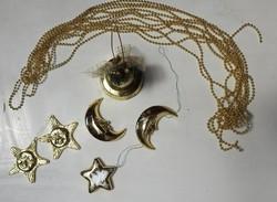 Arany színű vegyes karácsonyfadísz kollekció - Karácsonyfadísz gyűjteményből