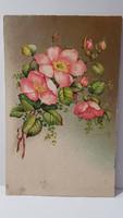 Régi virágos képeslap, üdvözlőlap, levelezőlap 1933