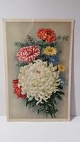 Régi virágos képeslap, üdvözlőlap, levelezőlap 1943