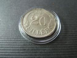 20 fillér 1940