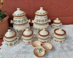Ritka Kun Gazda Karcag kerámia fűszertartó fűszeresek nosztalgia darab, paraszti dekoráció Gyűjtői