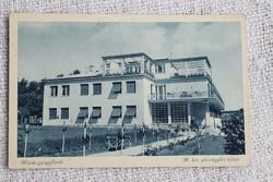 Régi képeslap Hévíz - gyógyfürdő Magyar királyi pénzügyőr üdülő