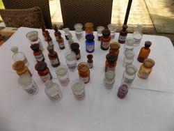 Patikai eszközök, edények, üvegek kb. 150 darab eladó