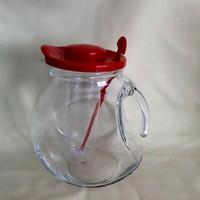 Üveg kancsó jégtartállyal