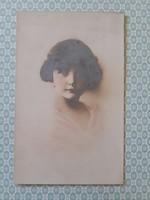 Régi kislány fotó képeslap 1916 vintage levelezőlap