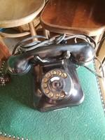 Bakelit tárcsás telefon fekete