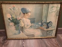 Varró nő ( akvarell )