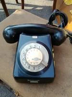 Fekete tárcsás telefon,retro