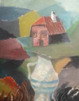 Kovács Kálmán: Kint és bent (34x27, tempera, hagyatéki) Kokoschka és Hundertwasser tanítványa