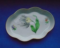 Hibátlan virágos Herendi porcelán hamutál, asztalközép, tálka, ékszertartó, tányér, tál