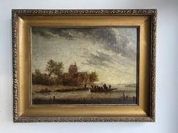 Antik Flamand Hajós Életkép