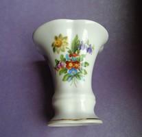 Virágos Herendi porcelán fogpiszka, cigaretta tartó, váza
