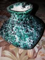 Zöld Tófej váza, kicsi négyszögletű