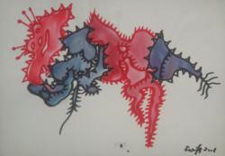 SZEIFT BÉLA akvarell 29,5x20,5 cm