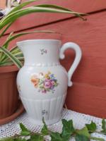 22 cm-es Kőbányai Porcelán virágos  kancsó, nosztalgia darab,KP jelzésű