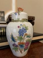 Eredeti Viktória mintás Herendi porcelán fedeles váza, urna 1 Forintról!!!