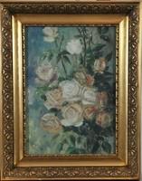 """Ismeretlen művész, """"D. Cristiano"""", Csendélet rózsákkal"""