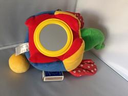 Érzékelés-fejlesztős gyerekjáték, színes, tükrös, csörgős elefánt