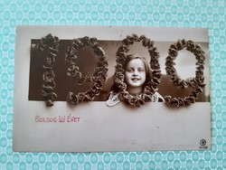 Régi újévi fotó képeslap 1909 levelezőlap