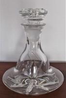 Dekantáló üveg, palack, a XX. sz. elejéről