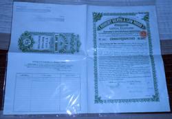 Angol kötvény értékpapír 1920