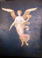 Angyalos,  gyönyörű litho 19x26 cm