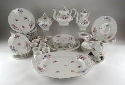 1E625 Antik Fischer Emil porcelán étkészlet 53 darab