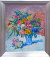 Gy. Riba János (1905-1973) : Nagy virágcsendélet
