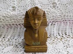 Ahmed Zeinhom kőből faragott jó nehéz egyiptomi szobor.