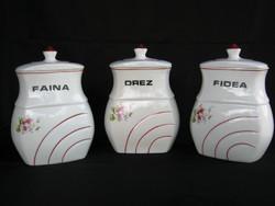 3 db porcelán fűszertartó - nagy méretű