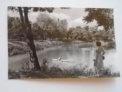 G21.356   Régi képeslap  Nyíregyháza - Sóstó - Csónakázó tó  1959