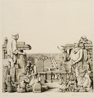 Rékassy Csaba - Labirintus 35 x 35 cm rézkarc