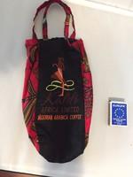 Afrikai Ankara textilből kávé csomagoló táska