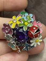 Ezüst 925 gyönyörű gyűrű 19mm belső méret