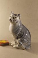 Porcelán art deco macska 934