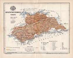 Kis Küküllő vármegye térkép 1894 (4), lexikon melléklet, Gönczy Pál, 23 x 29 cm, megye, Posner K.