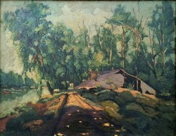 Nagy Károly (1880-1931): Folyó menti táj