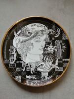 Hollóházi Szász Endre Adria  porcelán tányér 15 cm
