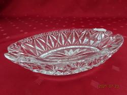Üveg hamutál, ovális. Mérete: 16 x 9,7 x 3,5 cm. Vanneki!
