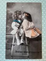 Régi fotó képeslap 1921 gyerekek levelezőlap