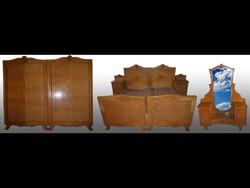 3012 Antik Lingel hálószoba garnitúra 7 db