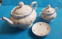 Meisseni teás készletből darabok Kanna, cukortartó, 3 alj
